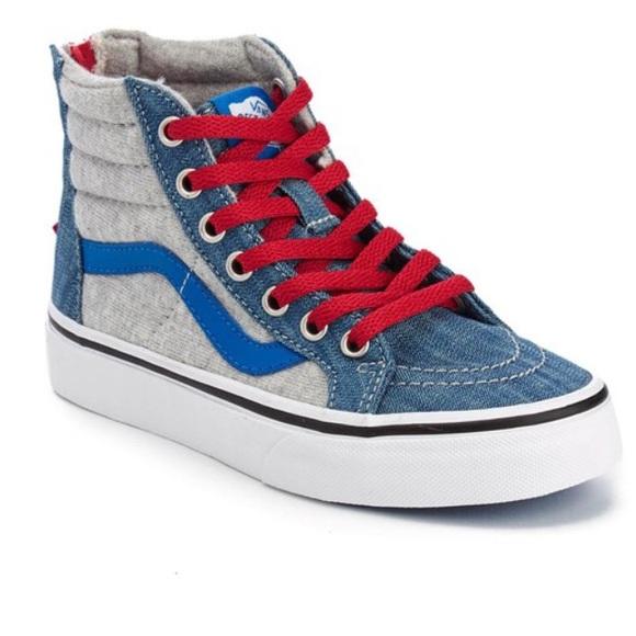 d7904a8cfcc2 Vans Other - Vans KIDS Sk8-Hi Zip Sneakers - Jersey Denim C12.
